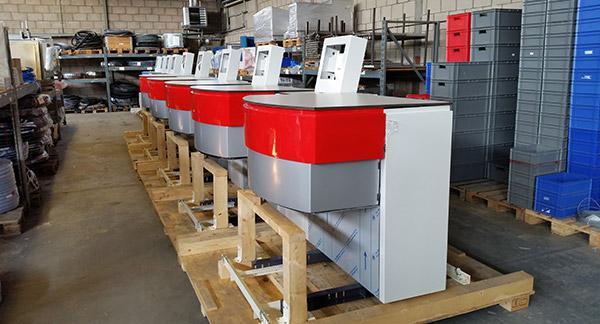 Installatie op meerdere sites van 16 dispensers in 4 maanden