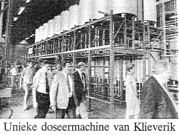 grensverleggende geautomatiseerd verfdoseersysteem ontwikkelen in 1992